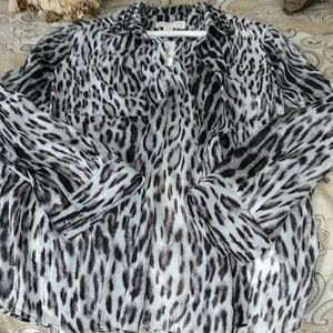 Zebra print michael kors shirt